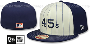 Colt .45s VINTAGE-STRIPE White-Navy Fitted Hat by New Era