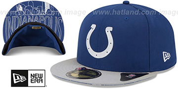 Colts '2015 NFL DRAFT' Royal-Grey Fitted Hat by New Era