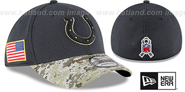 Colts '2016 SALUTE-TO-SERVICE FLEX' Grey-Desert Hat by New Era