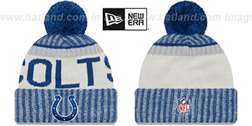 Colts '2017 STADIUM BEANIE' Royal Knit Hat by New Era