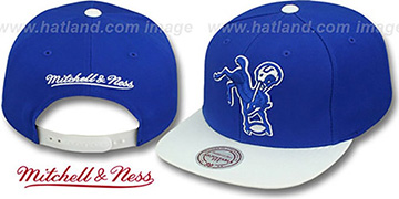Colts 2T XL-LOGO SNAPBACK Royal-White Adjustable Hat by Mitchell & Ness