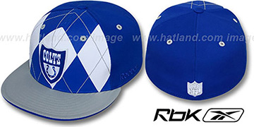 Colts 'ARGYLE-SHIELD' Royal-Grey Fitted Hat by Reebok