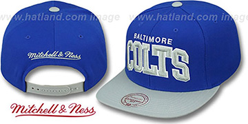 Colts 'BLOCK-ARCH SNAPBACK' Royal-Grey Hat by Mitchell & Ness