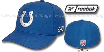 Colts COACHES Fitted Hat by Reebok - royal