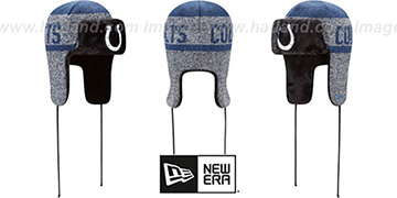 Colts FROSTWORK TRAPPER Royal Knit Hat by New Era