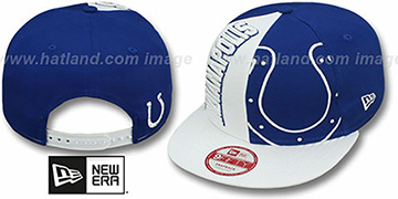 Colts NE-NC DOUBLE COVERAGE SNAPBACK Hat by New Era