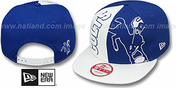 Colts NE-NC THROWBACK DOUBLE COVERAGE SNAPBACK Hat by New Era