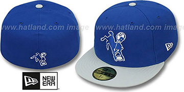 Colts NFL 2T THROWBACK TEAM-BASIC Royal-Grey Fitted Hat by New Era