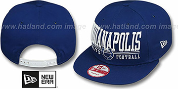 Colts 'NFL LATERAL SNAPBACK' Royal Hat by New Era
