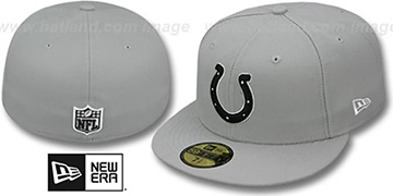 Colts 'NFL TEAM-BASIC' Grey-Black-White Fitted Hat by New Era