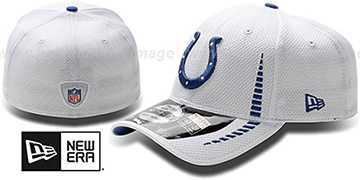 Colts 'NFL TRAINING FLEX' White Hat by New Era