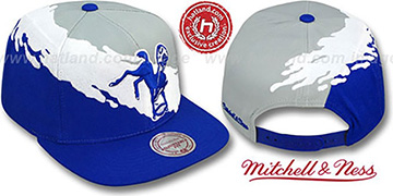Colts 'PAINTBRUSH SNAPBACK' Grey-White-Royal Hat by Mitchell & Ness
