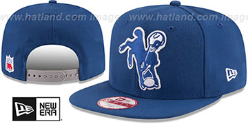 Colts RETRO-BASIC SNAPBACK Royal Hat by New Era