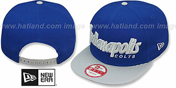 Colts SNAP-IT-BACK SNAPBACK Royal-Grey Hat by New Era