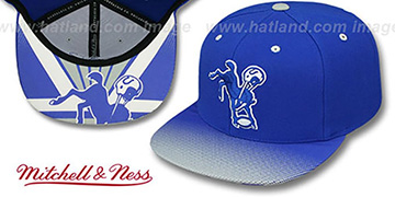 Colts STOP-ON-A-DIME SNAPBACK Royal-Grey Hat by Mitchell and Ness
