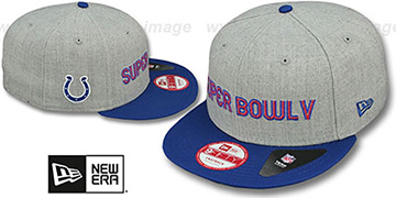 Colts SUPER BOWL V SNAPBACK Grey-Royal Hat by New Era