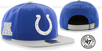 Colts 'SUPER-SHOT STRAPBACK' Royal-Grey Hat by Twins 47 Brand