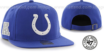 Colts SUPER-SHOT STRAPBACK Royal Hat by Twins 47 Brand
