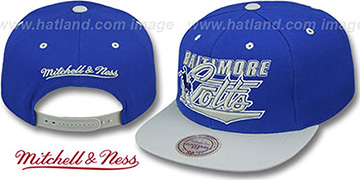 Colts 'TAILSWEEP SNAPBACK' Royal-Grey Hat by Mitchell and Ness