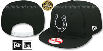 Colts TEAM-BASIC SNAPBACK Black-White Hat by New Era