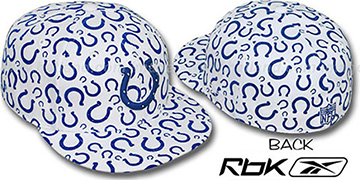 Colts 'TEAM-FLOCKING ALL-OVER' White Fitted Hat by Reebok