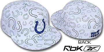 Colts TEAM-PRINT ALL-OVER White Fitted Hat by Reebok