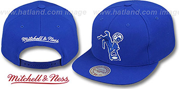 Colts 'THROWBACK-BASIC SNAPBACK' Royal Hat by Mitchell & Ness