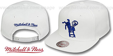Colts THROWBACK-BASIC SNAPBACK White Hat by Mitchell and Ness