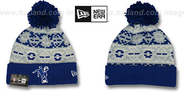 Colts THROWBACK RETRO CHILL Knit Beanie Hat by New Era