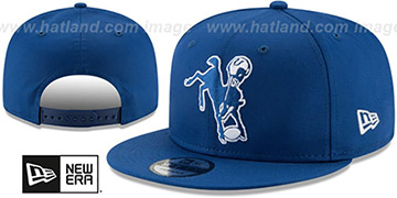 Colts THROWBACK TEAM-BASIC SNAPBACK Royal Hat by New Era