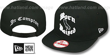 Compton 'BORN-N-RAISED SOCAL SNAPBACK' Black Hat by New Era