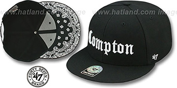 Compton 'GOTHIC PAISLEY SNAPBACK' Adjustable Hat by Twins 47 Brand