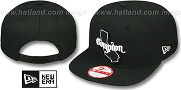 Compton STATE-OUTLINE SOCAL SNAPBACK Black Hat by New Era