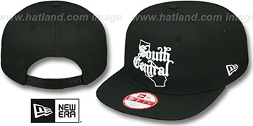 Compton 'STATE-OUTLINE SOUTH CENTRAL SNAPBACK' Black Hat by New Era
