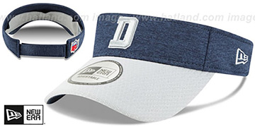 Cowboys 18 NFL STADIUM Navy-Grey Visor by New Era