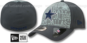 Cowboys '2014 NFL DRAFT FLEX' Charcoal Hat by New Era