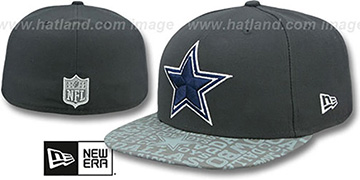 Cowboys '2014 NFL DRAFT' Grey Fitted Hat by New Era