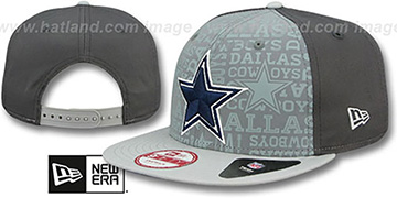 Cowboys 2014 NFL DRAFT SNAPBACK Grey-Grey Hat by New Era