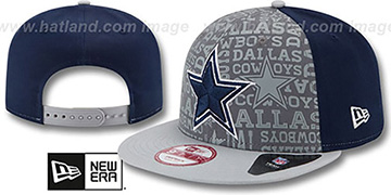 Cowboys '2014 NFL DRAFT SNAPBACK' Navy-Grey Hat by New Era
