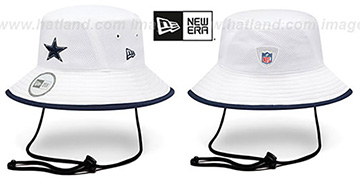 Cowboys '2014 NFL TRAINING BUCKET' White Hat by New Era