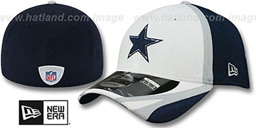 Cowboys 2014 NFL TRAINING FLEX White Hat by New Era