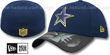 Cowboys '2015 GOLD COLLECTION FLEX' Navy-Charcoal Hat by New Era