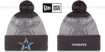 Cowboys 2015 GOLD COLLECTION Grey-Grey Knit Beanie Hat by New Era