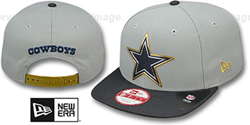 Cowboys 2015 GOLD COLLECTION SNAPBACK Grey-Navy Hat by New Era