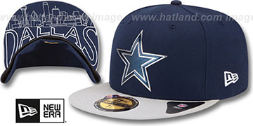 Cowboys '2015 NFL DRAFT' Navy-Grey Fitted Hat by New Era