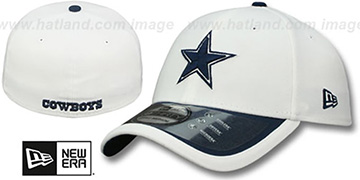 Cowboys 2015 NFL STADIUM FLEX White-Navy Hat by New Era