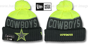 Cowboys 2015 STADIUM Charcoal-Yellow Knit Beanie Hat by New Era