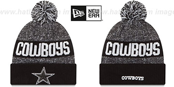 Cowboys '2016 STADIUM' Black-White Knit Beanie Hat by New Era