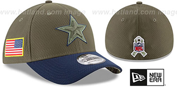 Cowboys 2017 SALUTE-TO-SERVICE FLEX Green-Navy Hat by New Era