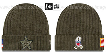 Cowboys 2017 SALUTE-TO-SERVICE Knit Beanie Hat by New Era
